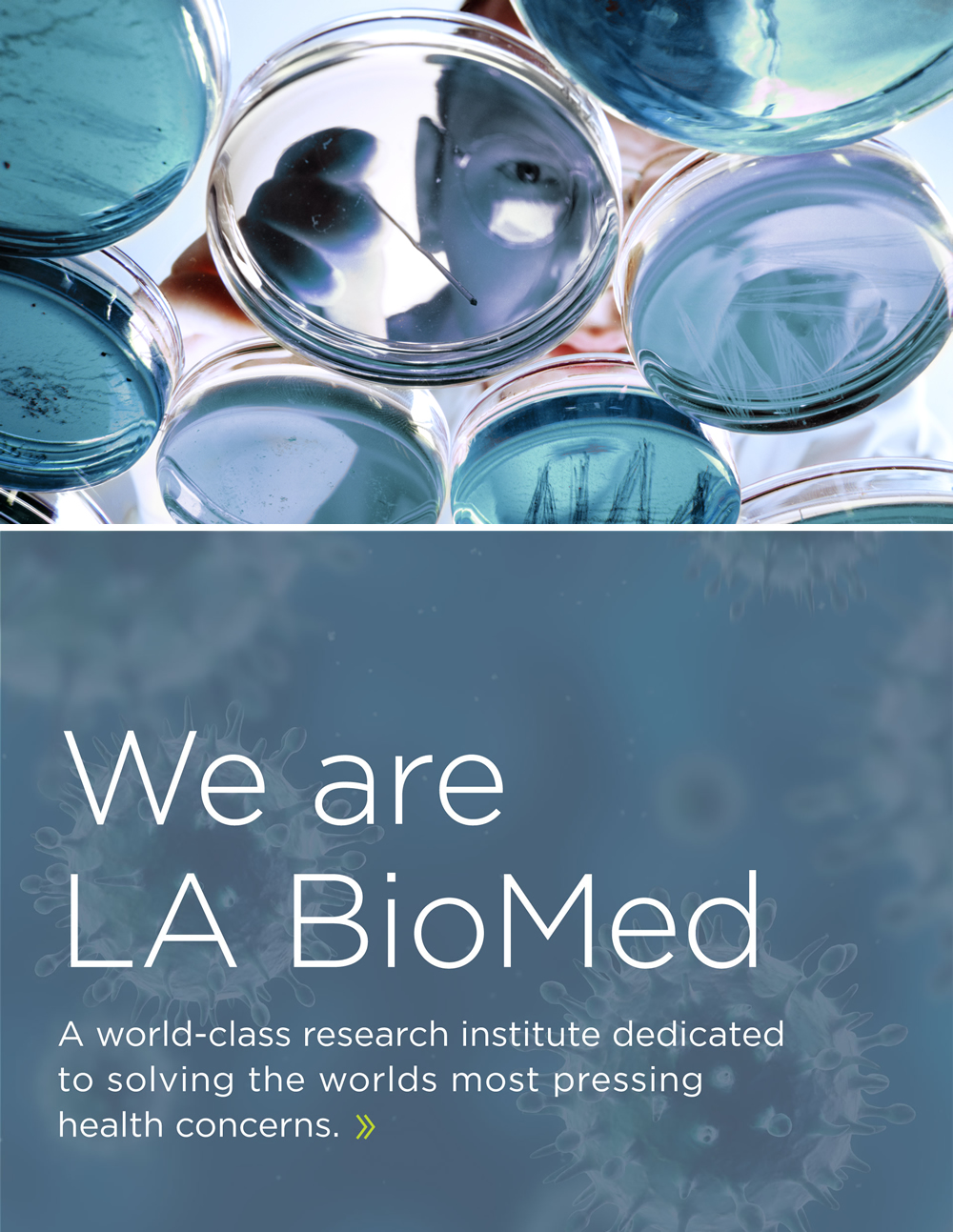 We are LA BioMed. A world-class research institute dedicated to solving the worlds most pressing health concerns.